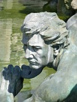 Detail from the Girondins Monument, built to honour the memory of the Girondin deputies, victim of the reign of terror during the French Revolution, and to the III Republic.
