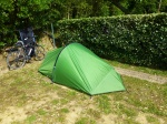 Tent erected, bedding sorted. Ready to go!